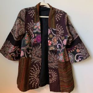 Soft Surroundings Embroidered Coat Jacket